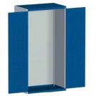bott cubio Systemschrank mit Flügeltüren + Perfo®-Lochung, 1050 x 650 x 1600 mm