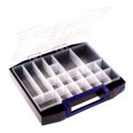 Raaco Sortimentskoffer Boxxser 80 8x8-20, 20 Einsätze, anthrazit/blau