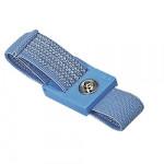 ESD-Handgelenkband mit 10 mm Druckknopf hellblau