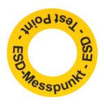 ESD Bodenmarkierungsaufkleber, PVC-Folie Ø 130 mm (10 Stück)