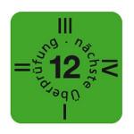 """ESD Folien-Fälligkeitsaufkleber """"2012"""" für ESD-Arbeitsplätze, 15 x 15 mm (30 Stück)"""