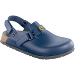 ALPRO Damen-/Herren-Clog ProTec C 100 ESD WB mit Weichbettung, Leder, schmale Form, blau, Gr. 36-42
