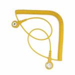 Bernstein ESD-Spiralkabel für Armband 9-341-2, 2,4 m, gelb