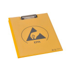 ESD Klemmbrett DIN A4 PVC IDP-STAT®, gelb