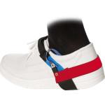 ESD Dauerfersenband mit Clipverschluss, schwarz/blau/rot