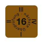 """ESD Folien-Fälligkeitsaufkleber """"2016"""" für ESD-Arbeitsplätze, 15 x 15 mm (30 Stück)"""