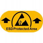 ESD Bodenmarkierungsaufkleber, PVC-Folie 150 mm x 75 mm (10 Stück)