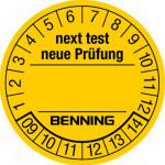 """BENNING Prüfplaketten """"Neuer Prüftermin"""" (300 Stück)"""