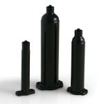 Nordson EFD Dosierkartuschen Optimum® mit Stopfen, schwarz, 600 ml (100 Stück)