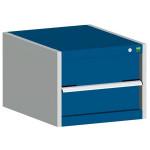 bott cubio Schubladenschrank SL 554-1.1, 1 Schublade, 525 x 525 x 400 mm, enzianblau