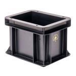 WEZ BLACKLINE® ESD-Eurobehälter, 200 x 150 x 145 mm