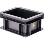 WEZ BLACKLINE® ESD-Eurobehälter, 200 x 150 x 100 mm